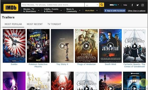 تریلر فیلم های جدید در سایت IMDb