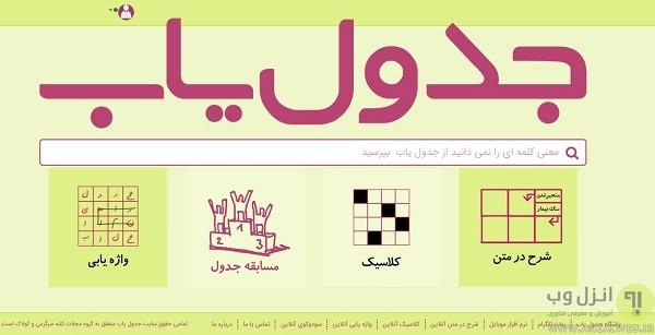 جدول آنلاین شرح در متن، واژه یاب، سودکو و...