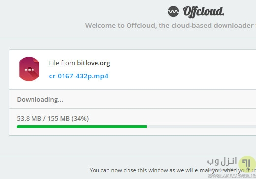 آپلود فایل با لینک مستقیم به گوگل درایو با کمک سایت offcloud
