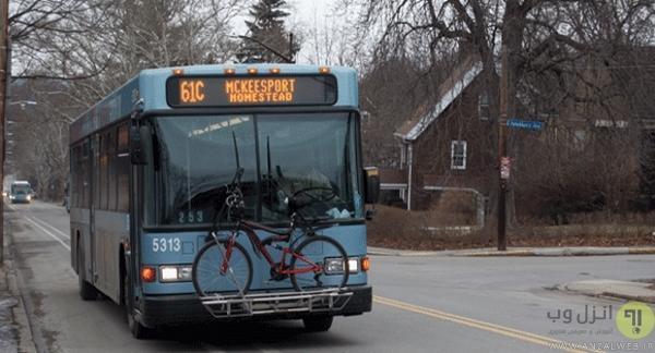 دوچرخه بند اتوبوسی!