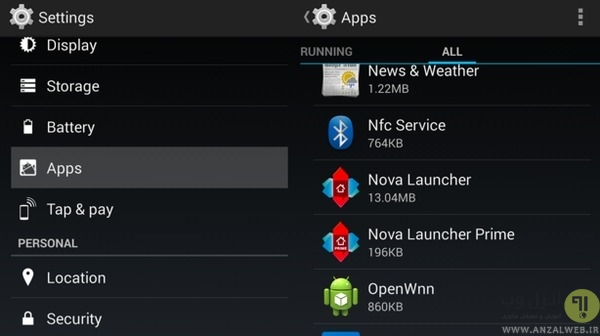 ریست کردن app preferences در رفع ارور اندروید