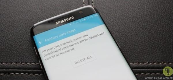 ریست فکتوری کردن گوشی برای رفع خطای android.process.acore