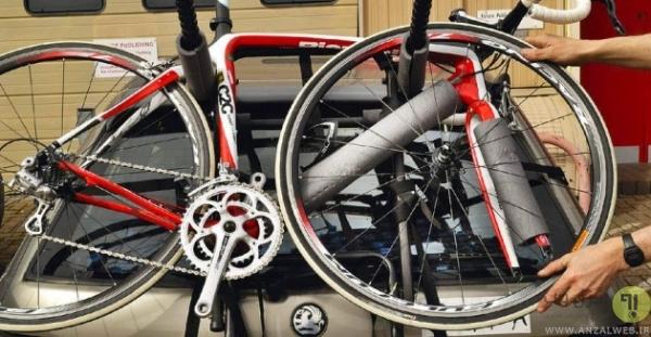 بستن دوچرخه روی دوچرخه بند ماشین