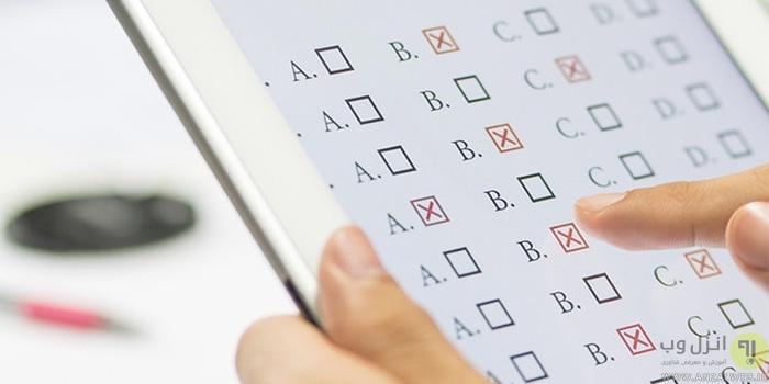 سایت های ساخت آزمون فارسی و انگلیسی آنلاین