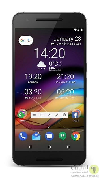 Chronus یک ساعت برای صفحه گوشی اندروید شما