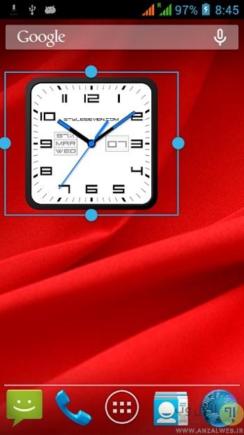 ساعت سخنگوی Square Analog Clock-7 برای اندروید