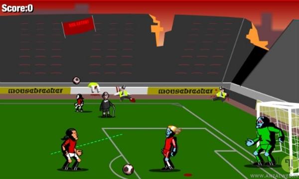 فوتبال زامبی آنلاین Zombie Soccer