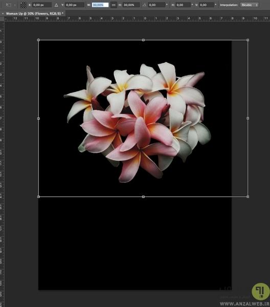 Duplicate کردن لایه ها در طراحی پوستر در فتوشاپ