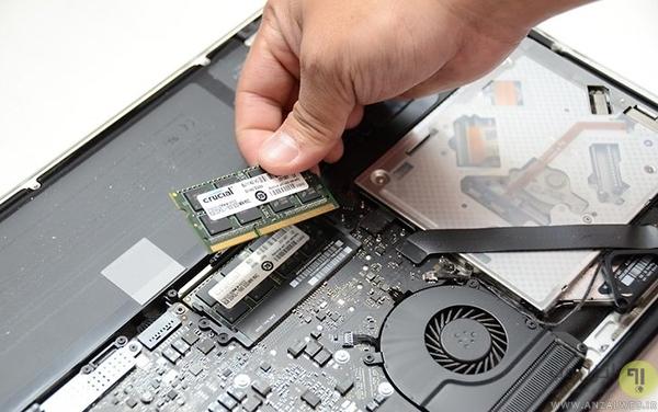 ارتقا رم لپ تاپ های مک