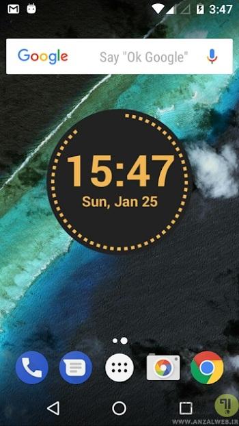 دانلود نرم افزار ساعت دیجیتال Circle Clock برای اندروید