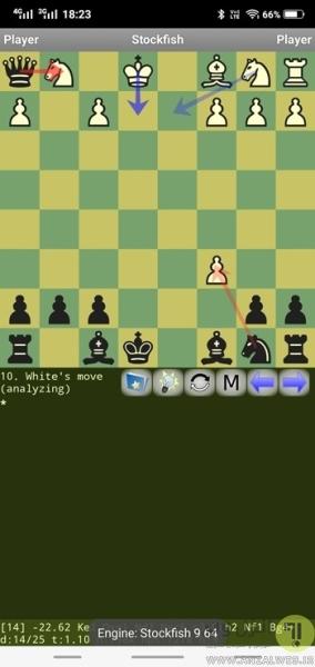 بازی شطرنج اندروید DroidFish