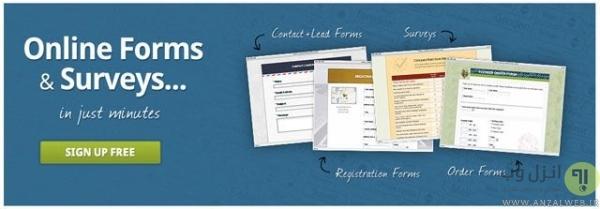 سرویس FormSite برای ساخت فرم آنلاین