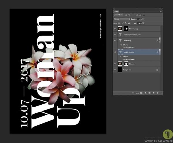 افکت دادن به متن در طراحی پوستر با فتوشاپ