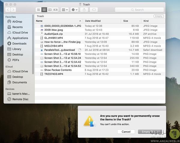 حذف برنامه های غیرقابل حذف مک در حالت سیف مد
