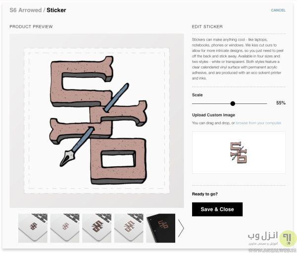 استفاده از سرویس Society6 برای فروش استیکر