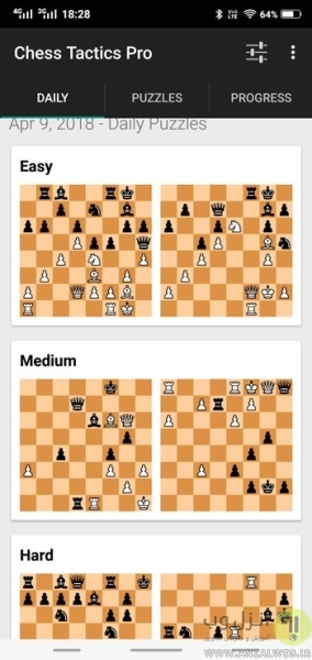 Chess Tactics Pro برای بازی کردن شطرنج در اندروید