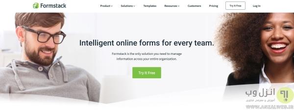 ساخت فرم آنلاین در Formstack