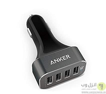 شارژر فندکی 4 پورته Anker PowerDrive 4