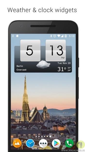 نصب برنامه ساعت هوشمند HTC