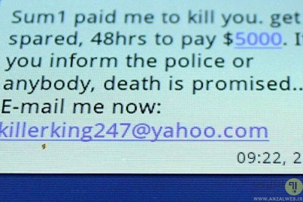 کلاهبرداری هیتمن به صورت اینترنتی (Hitman scam)