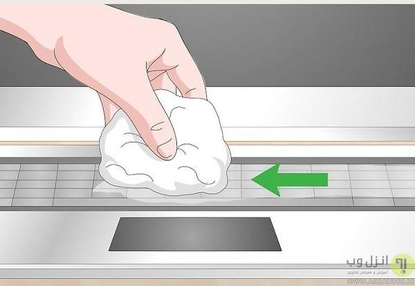 چگونه زیر دکمه های لپ تاپ را تمیز کنیم؟