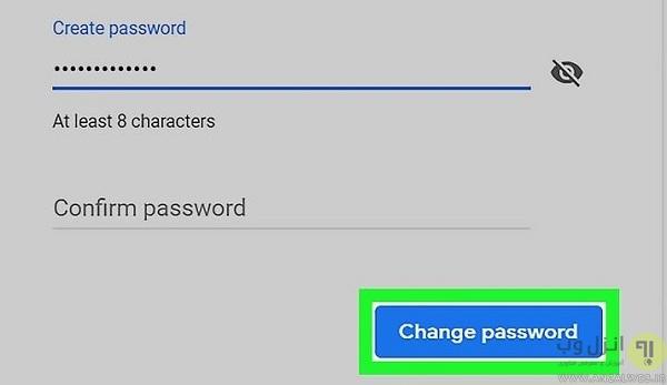 تغییر رمز جیمیل فراموش شده