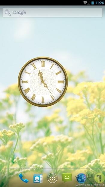 دانلود ساعت آنالوگ زیبا برای اندروید