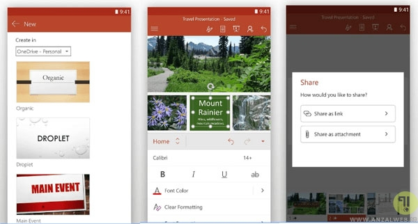 PowerPoint for Android - نرم افزار پاورپوینت اندروید