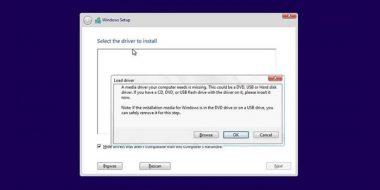 رفع مشکل Load driver , No Device Drivers Were Found هنگام نصب ویندوز 10 ، 8 و 7
