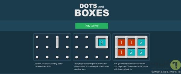 نقطه بازی آنلاین Dots Game