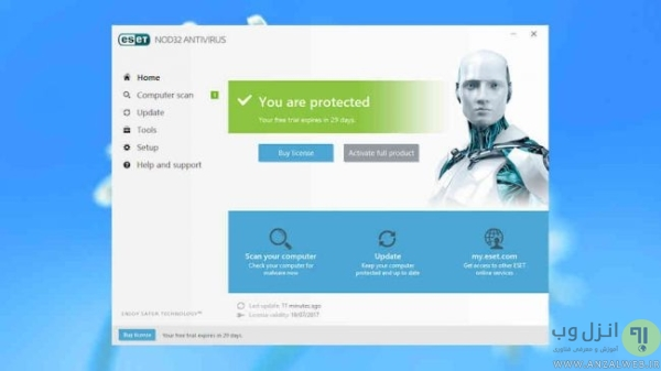 دانلود آنتی ویروس کامپیوتر ESET NOD32 Antivirus