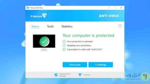 آنتي ويروس F-Secure براي كامپيوتر