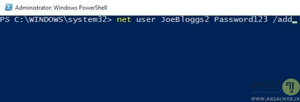 ساخت حساب کاربری جدید (user account) برای حل مشکل منوی استارت در ویندوز 10