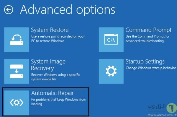 Repair کردن ویندوز برای رفع خطا