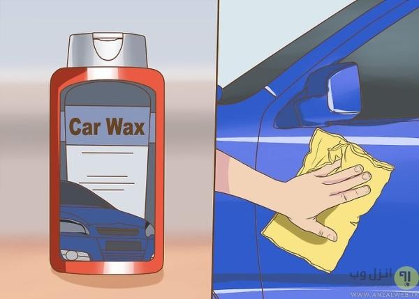 خشک کردن و واکس زدن بیرون ماشین
