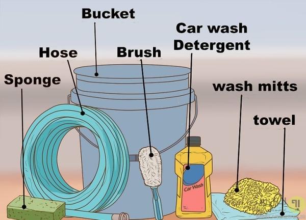 روش آماده کردن خودرو و وسایل برای شستن بیرون ماشین