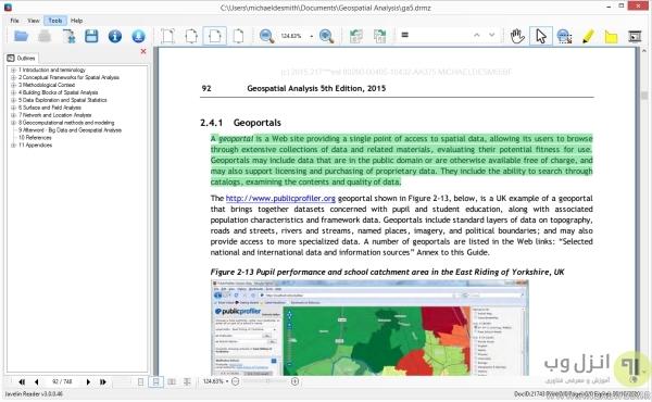 دانلود برنامه PDF <strong>برای</strong> کام<strong>پی</strong>وتر ویندوز 10 Javelin PDF Reader