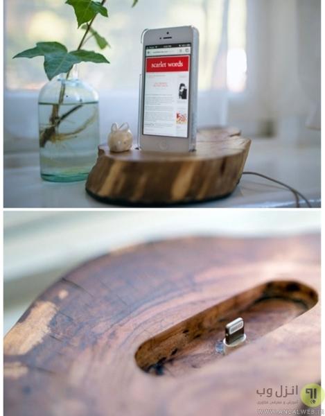 ساخت نگه دارنده موبایل با چوب