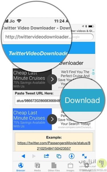 روش دانلود فیلم از توییتر در iPhone