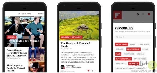 خبر <strong>خوان</strong> RSS اندروید Flipboard