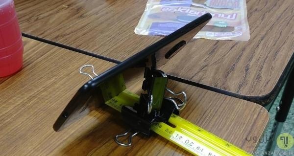 روش ساخت نگهدارنده گوشی رو میزی با گیره و خط کش