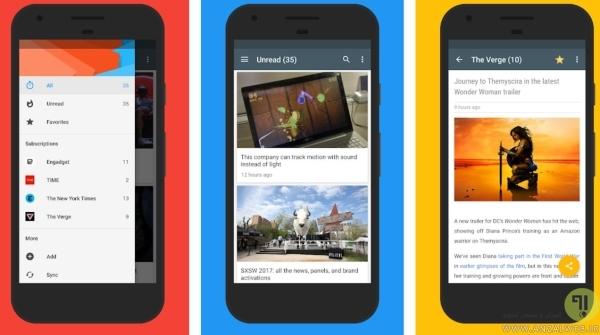 اپلیکشن <strong>فید</strong> خوان اندروید Read - Simple RSS reader