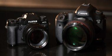 سایت مقایسه دوربین های عکاسی : سایز ، مشخصات و..