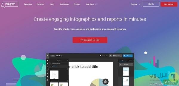 نرم افزار طراحی Infographic آنلاین infogr.am