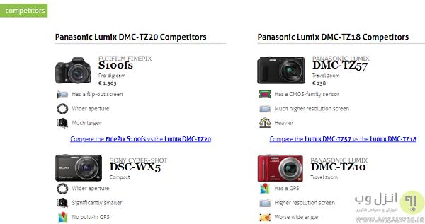 مقایسه دوربین های عکاسی نیکون