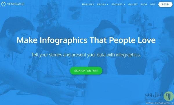 سرویس Venngage برای ساخت آنلاین اینفوگرافیک