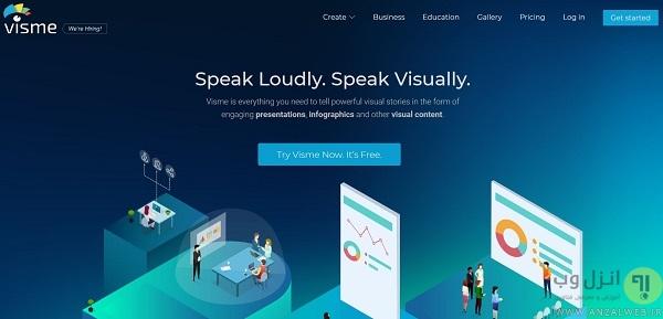 Visme برای ساخت اینفوگرافیک آنلاین