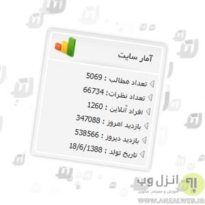 کد آمار بازدید سایت