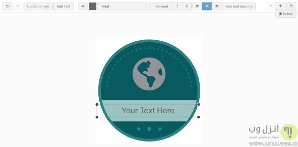 طراحی آنلاین پیکسل سینه و بج با Badge.Design