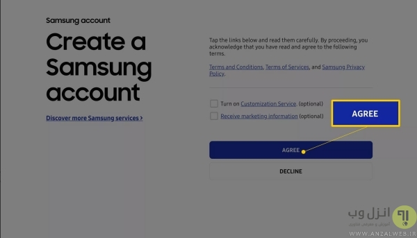 نحوه ساخت اکانت سامسونگ با استفاده از مرورگر وب در ویندوز و گوشی